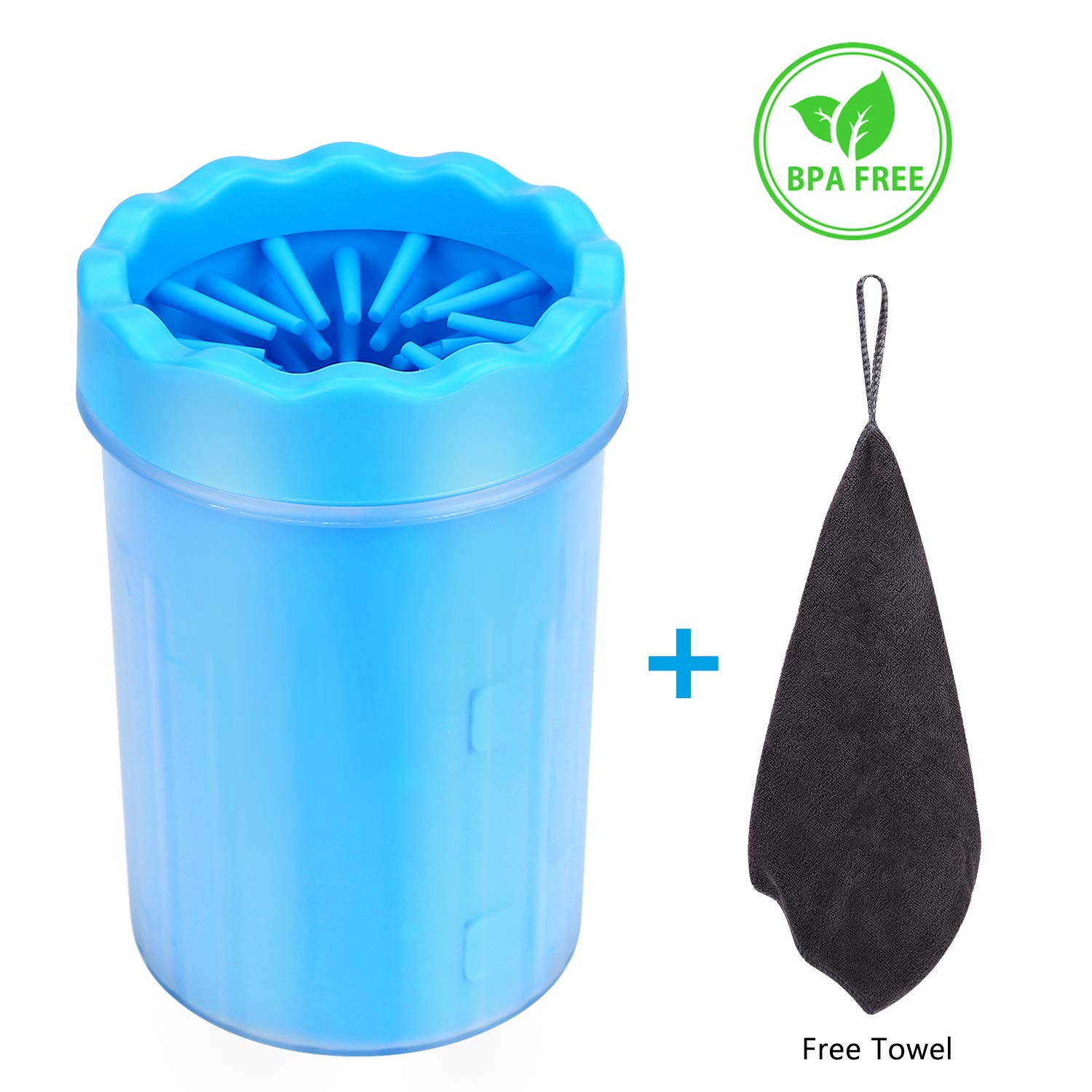 Bojafa Pet Dog Paw Cleaner for Dogs Paw Foot Cleaning Portable Muddy Paw Brush Cleaner Cup for Large Medium Dogs Paw Quickwash Paw Cleaner