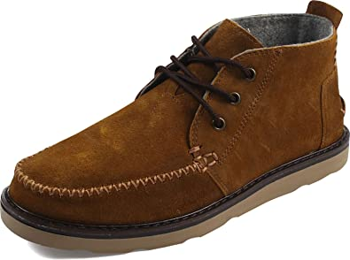 24dde1656fd TOMS Men's Chukka Boot Chestnut Oiled Suede 12 D US
