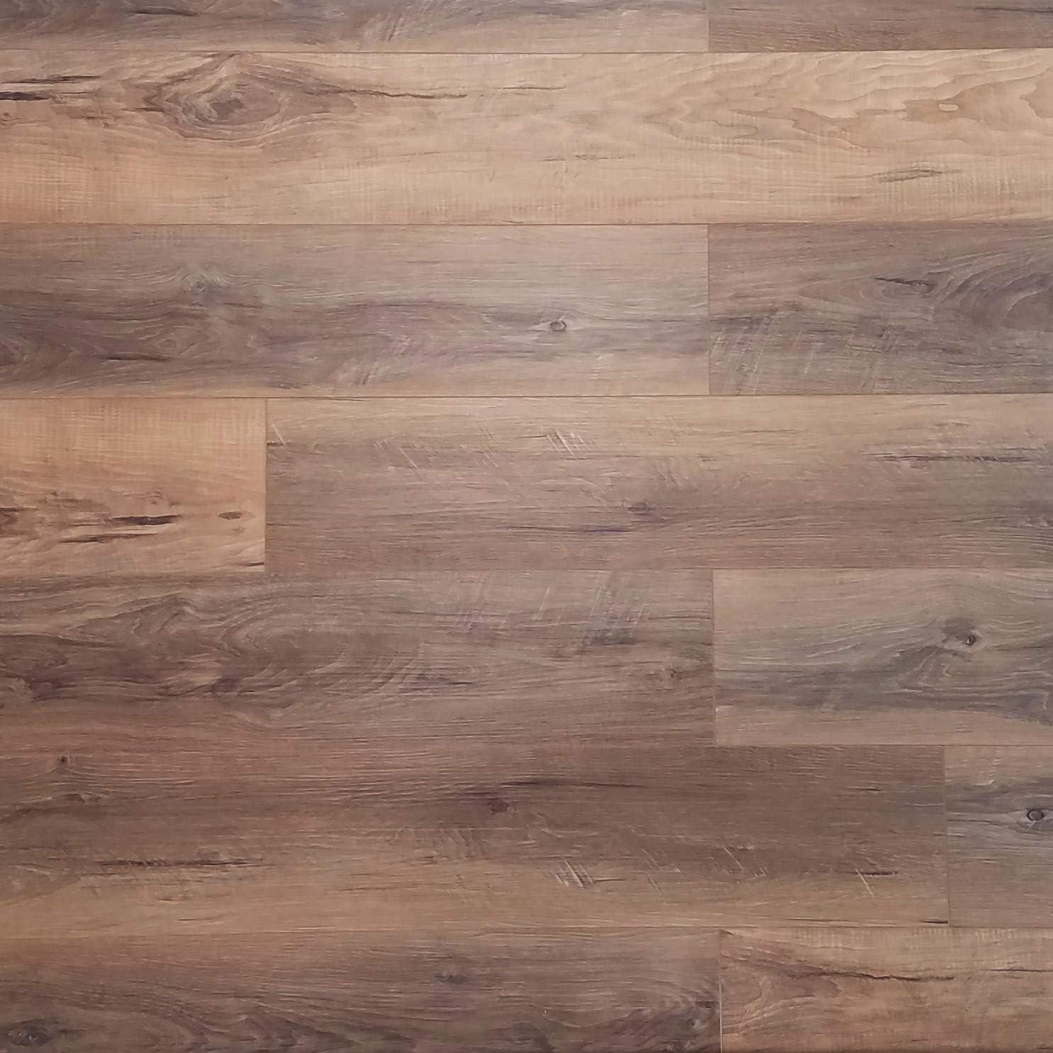 Gorgeous Natural Rustic Circle-Sawn Floating Waterproof WPC Flooring Sample Pioneer