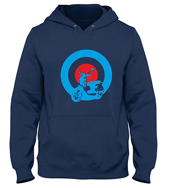 Speed Shirt Sudadera con Capucha para Hombre Azul Navy OLDENG00344 Mods Vespa: Amazon.es: Ropa y accesorios