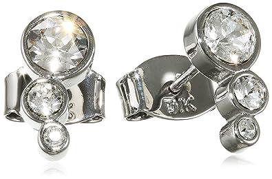 Dyrberg / Kern Women's Earring 15 / 02 Lini Ss Crystal-Clear Crystal Silver 338075 1,09 CM
