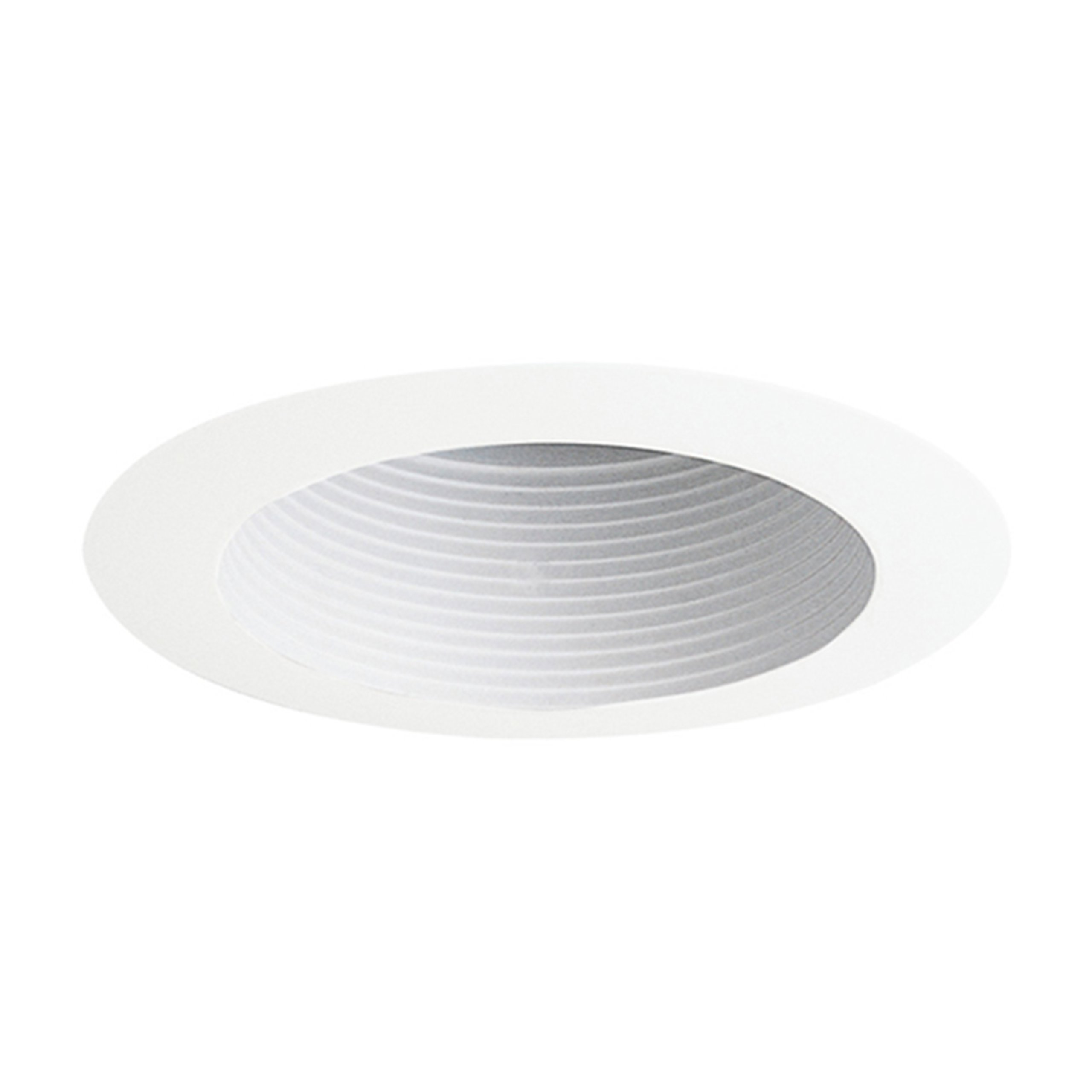 Juno Lighting 444W-WH 4-Inch Adjustable Recessed Trim, White Baffle with White Trim