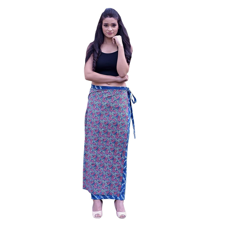 bluee3 SNS New Wraparound Skirt Handloom Raw Cotton Fabric Kasuti Embroidered
