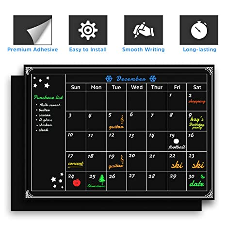 Amazon Chalkboard Wall Calendars