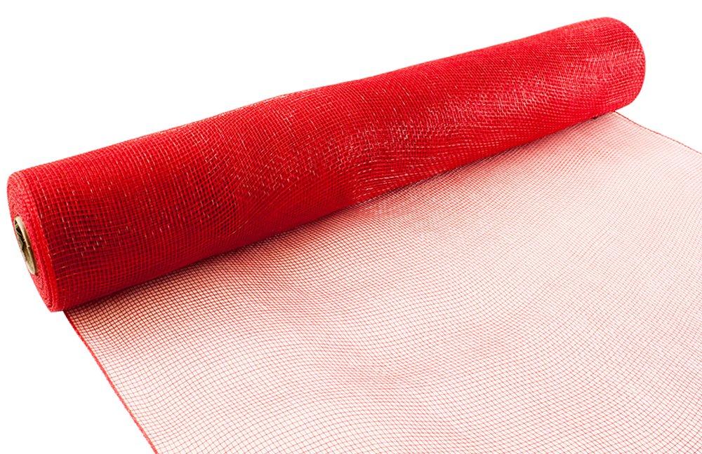 Eleganza, mesh decorativo, 53cm x 9,1m, rosso Oaktree 639744