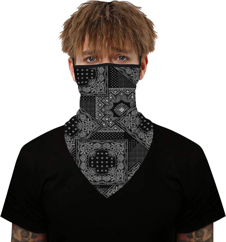 2020 Unisex Face Mask Seamless Bandanas Headband Scarf Face Neck Gaiter Sun UV Wind Protection Earhook Balaclava