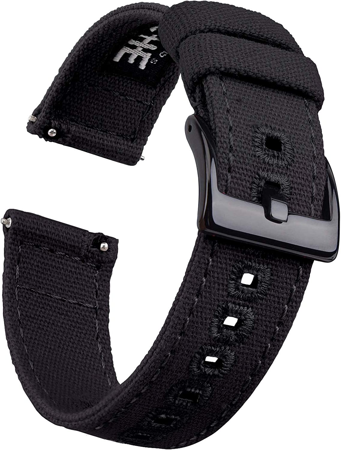 Ritche Canvas Quick Release Watch Band 18mm 20mm 22mm Replacement Watch Straps for Men Women