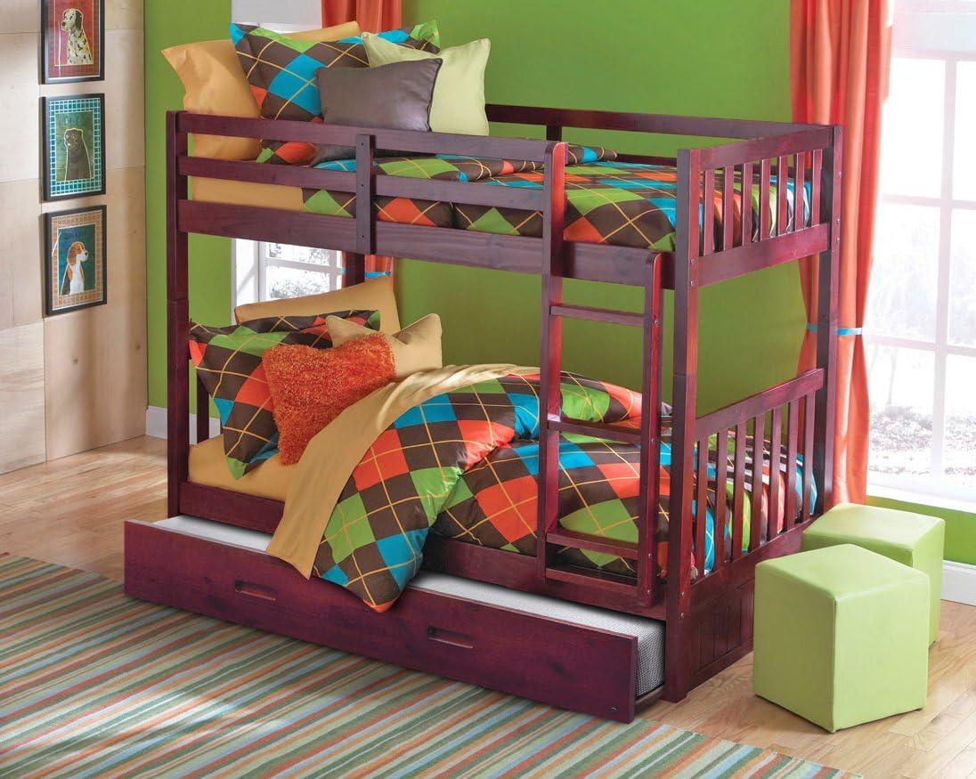 American Furniture Classics Bunk Bed, Merlot
