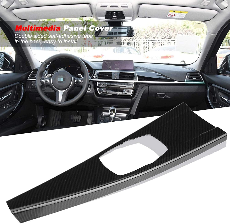 Multimedia Panel Cover ABS Interior Multimedia Panel Cover for BMW 3 Series F30 F34 4 Series F33 F36 Carbon Fiber trim