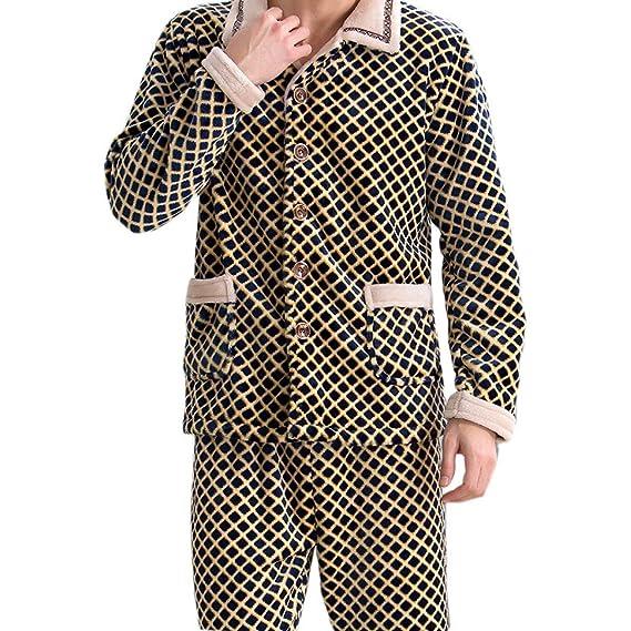 4c7c42aea0 Mens Warm Long Sleeve Comfort Soft Flannel Pajama Pajama Jogging Pajamas  Sets Simple Glamorous Classic Fashion