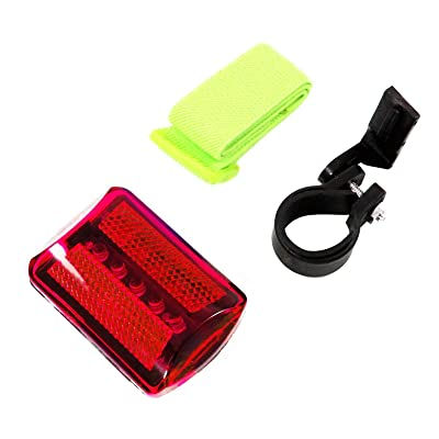 Personal Red Flashing Safety Light with Belt Clip (Set of 2) - up to 100 hours - Water Resistant : Wheelchair Lights : Sports & Outdoors