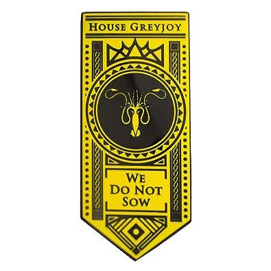 Game of Thrones House Greyjoy Enamel Pin Set Noble House Banner We Do Not  Sow Shirt or Lapel Pin