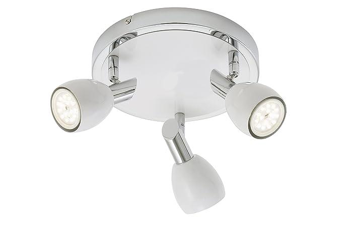 Briloner Leuchten 3408 036 Led Spotlight Ceiling Light 3 Bulbs Gu10