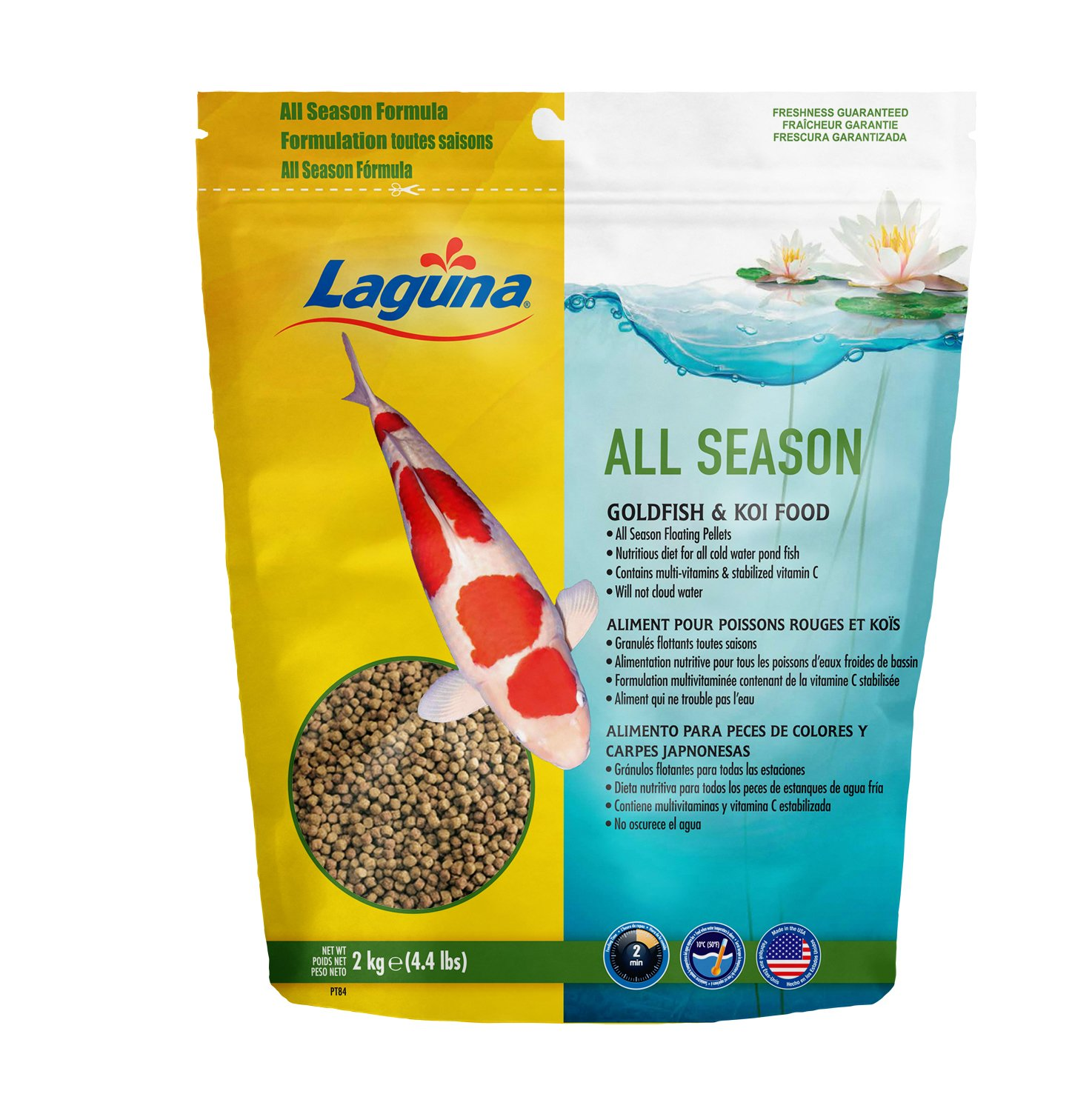 Laguna All Season Goldfish & Koi Floating Food, 4.4 Lbs by Laguna