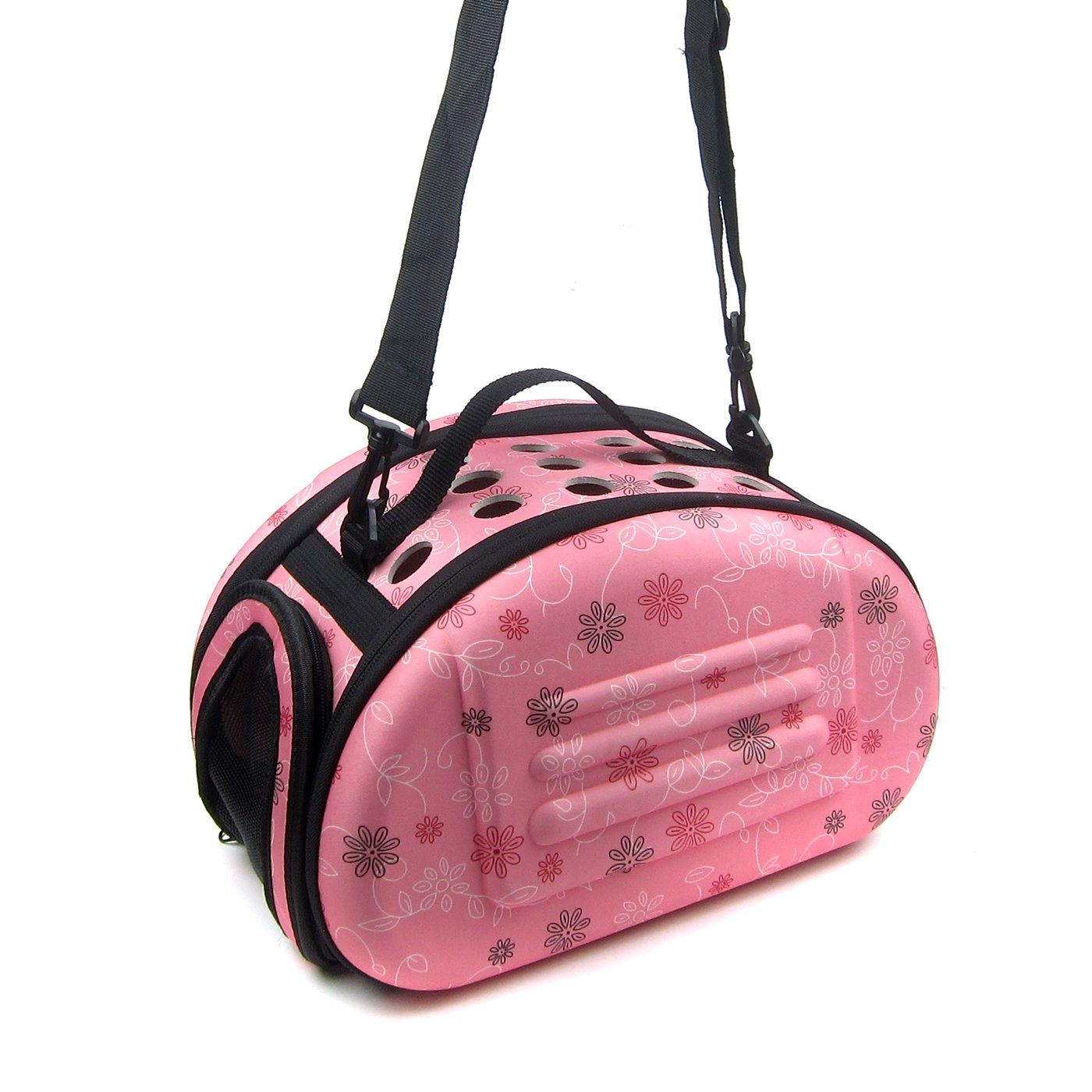 Alfie Pet by Petoga Couture -Lonnie Travel Carrier Vacation House for Small Animals like Dwarf Hamster and Mouse - Color: Pink, Size: Small