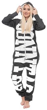 072c2e8454c0b2 Loomiloo® Jumpsuit Freizeitanzug Overall Hausanzug Einteiler Strampler  Anzug Pyjama Sonntag Dunkelgrau M