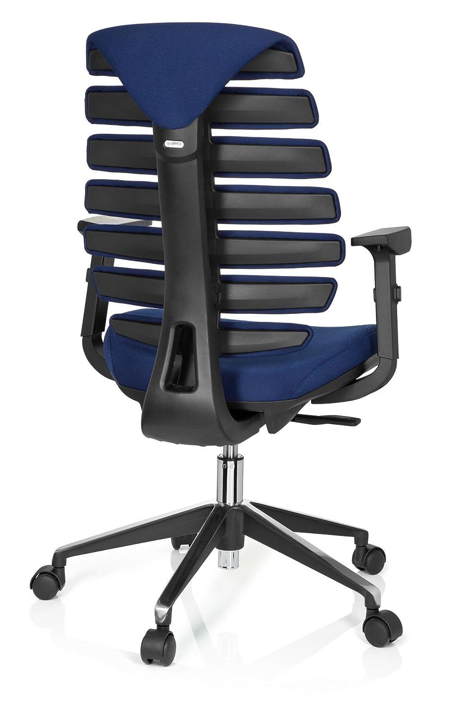 hjh OFFICE Ergo Line II Silla de Oficina operativa, Tela, Azul, 50.00x59.00x115.00 cm