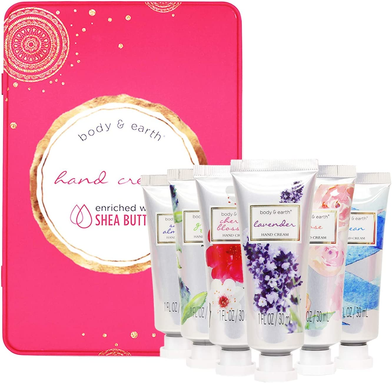 Hand Cream Gift Set, BODY and EARTH Hand Lotion for Dry
