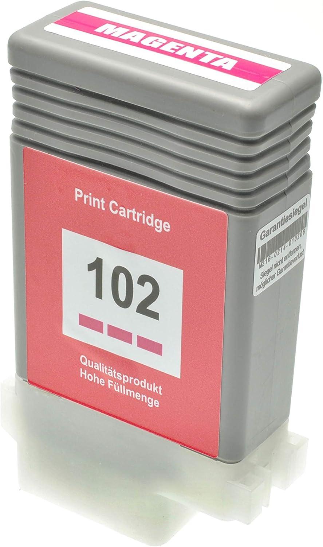 Tintenpatrone Kompatibel Für Canon Pfi 102 Imageprograf Ipf 500 5100 600 6000 605 610 650 655 700 710 750 755 760 765 S L Mfp M 40 0897b001 Magenta 130 Ml Bürobedarf Schreibwaren