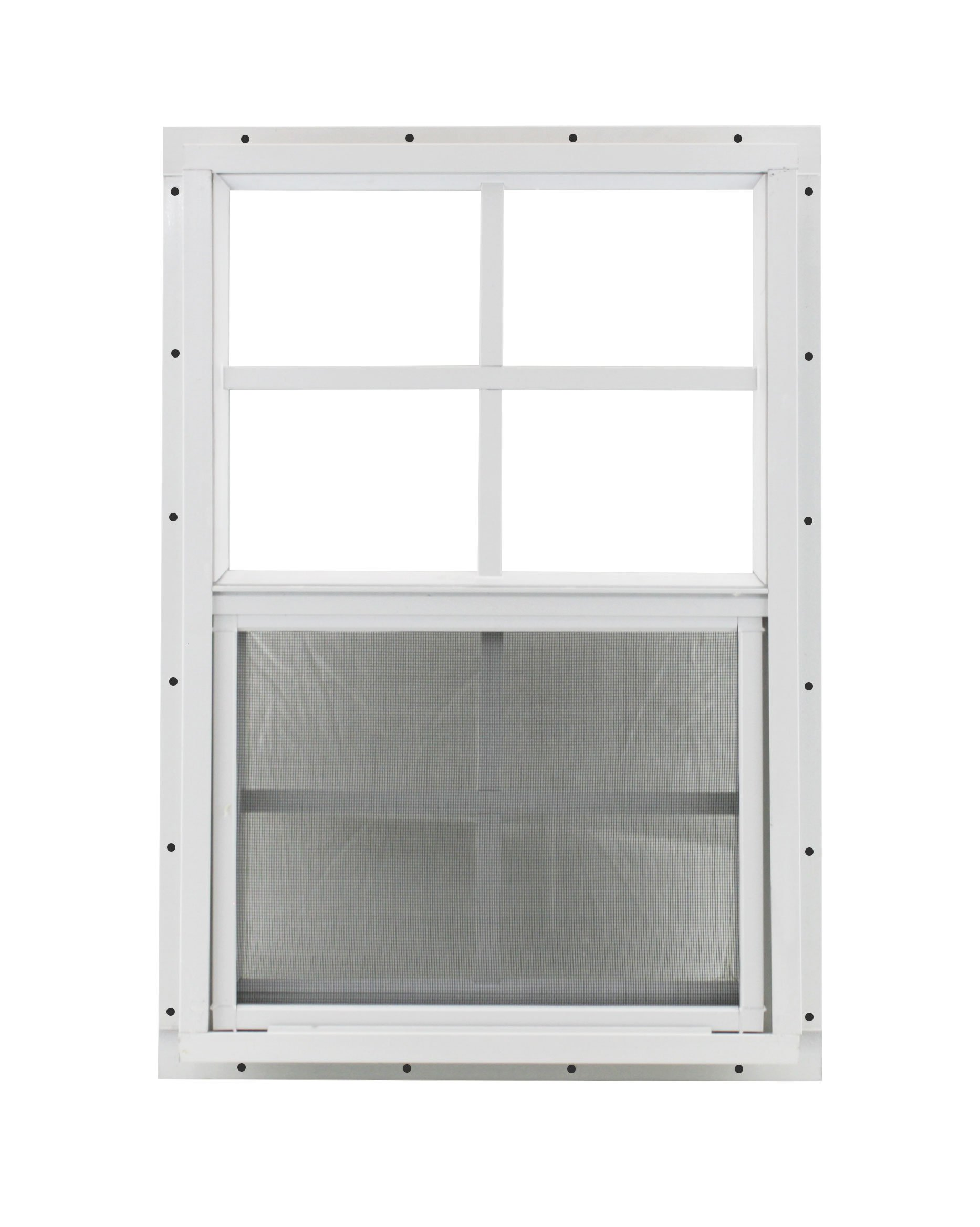 Shed Window 14 X 21 White J-Channel Mount Safety Glass