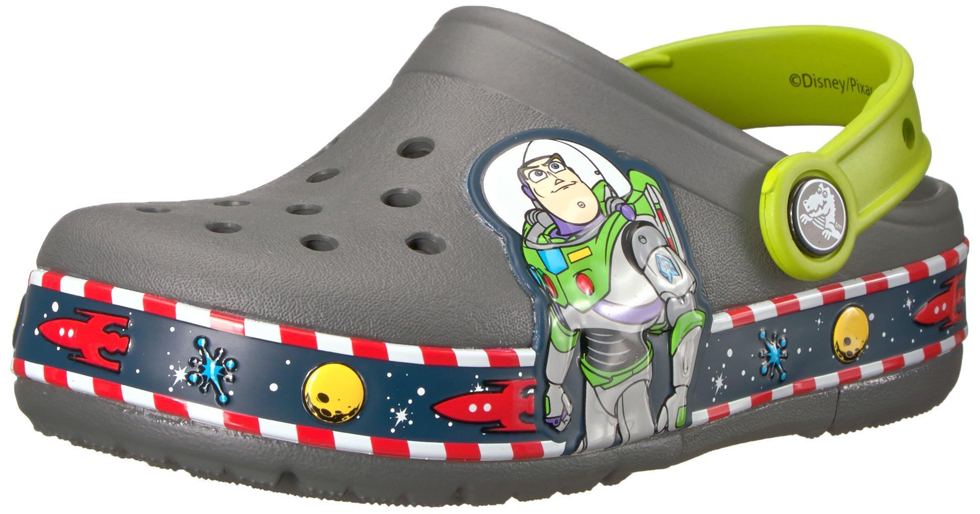 Crocs Crocband Fun Lab Light-Up Clog, Grey, 9 M US Toddler