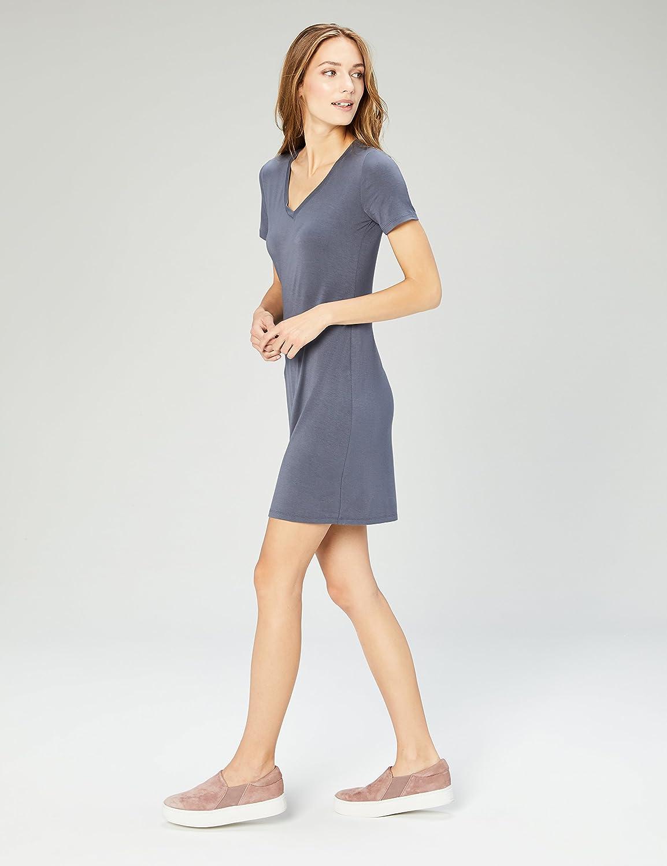 Marca dresses Mujer Daily Ritual Jersey Short-sleeve V-neck T-shirt Dress