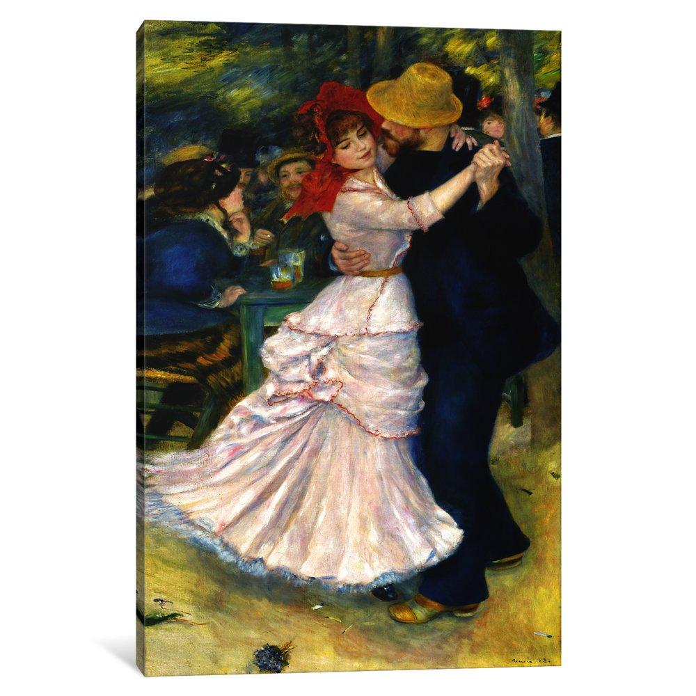 iCanvasART 1 Piece Dance at Bougival Canvas Print by Pierre-Auguste Renoir, 40'' x 26''/0.75'' Depth