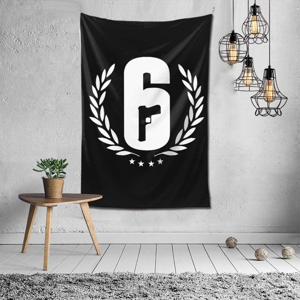 Uzila Rainbow Six Siege - Tapestry Wall Art Room Decor for Living Room Bed Room Wall Hanging 40x60 Picnic Blanket Beach Towel
