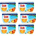 24-Count (6-Pack of 4-Cups) Dole Fruit Bowls Yellow Cling Diced Peaches