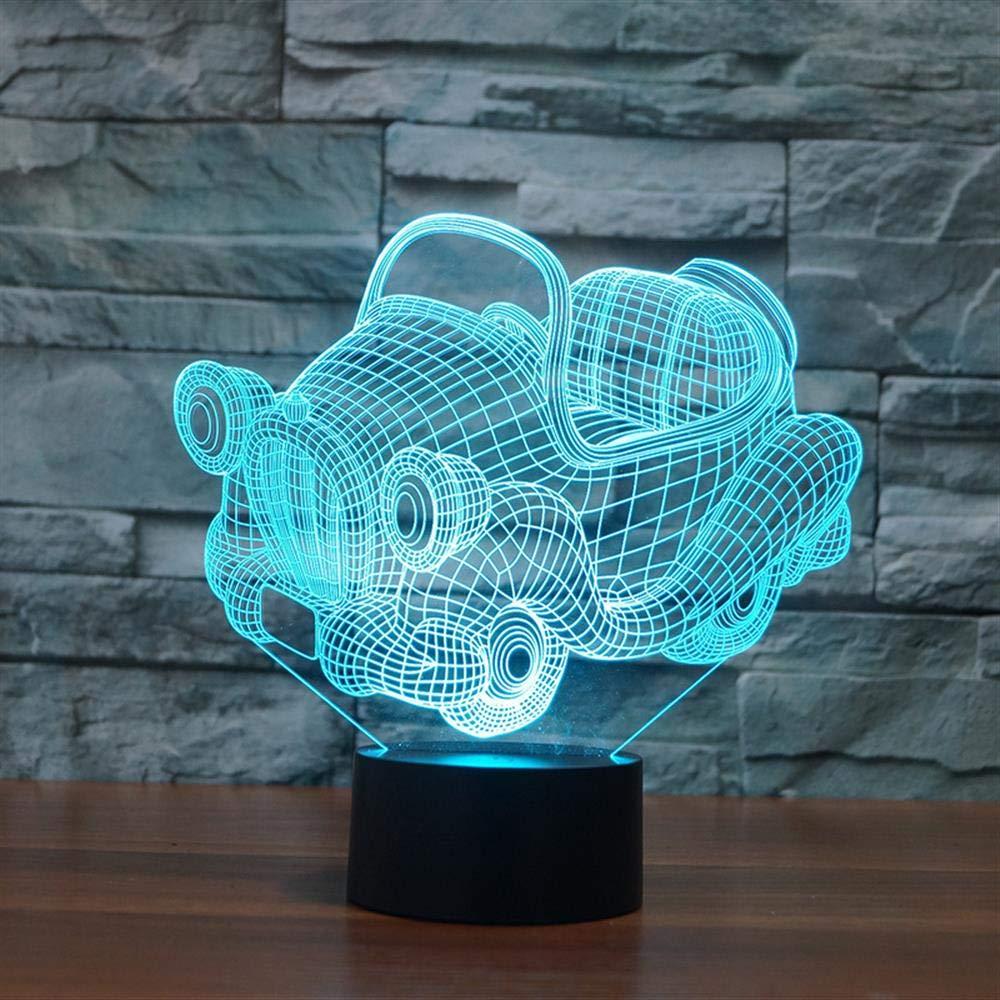 Bbdeng Led Ambiente Nocturna Luz 3d De N8Owk0XnP