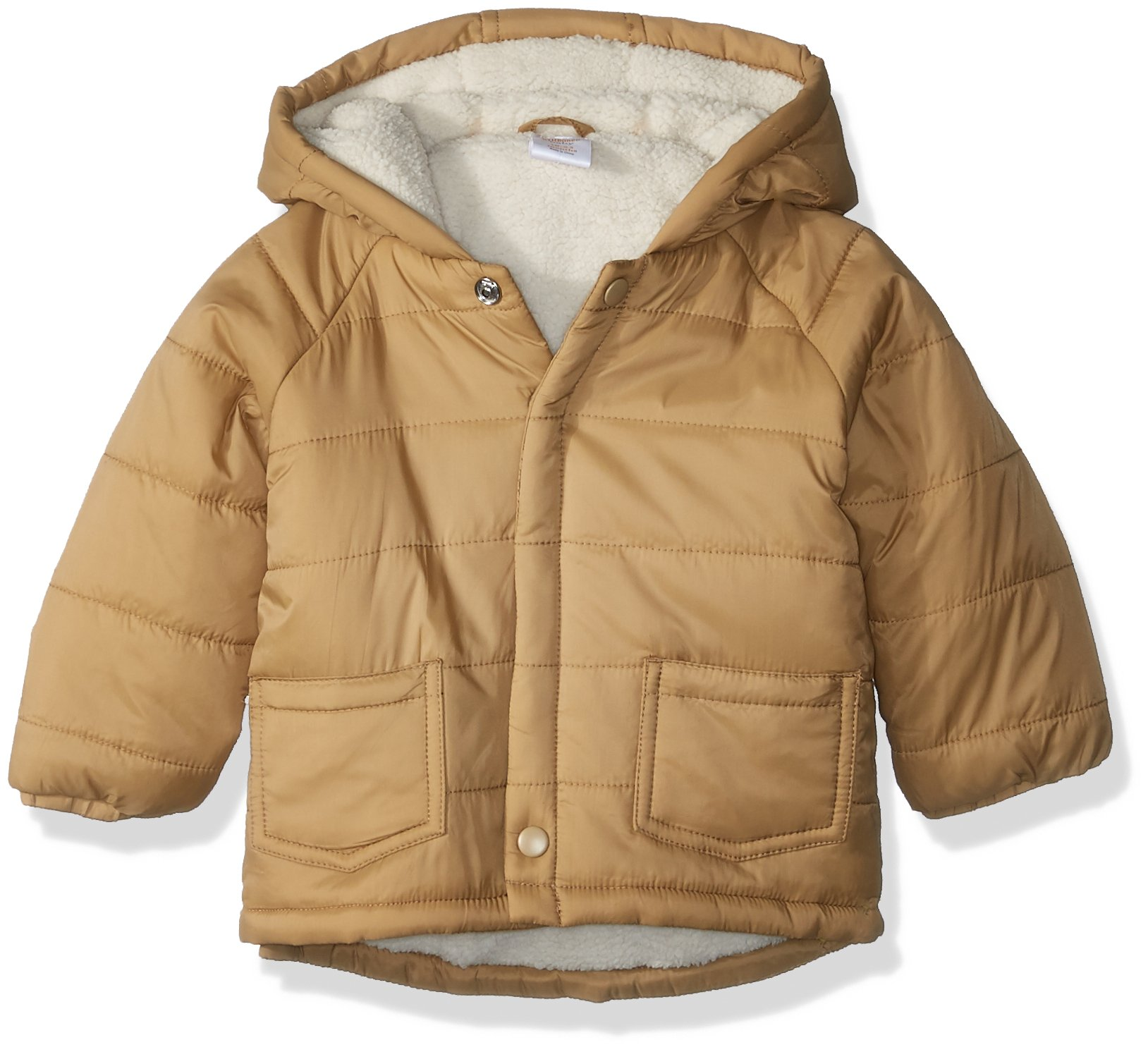 Gymboree Toddler Boys' Quilted Sherpa-Lined Coat, Tan, 18-24 Mo