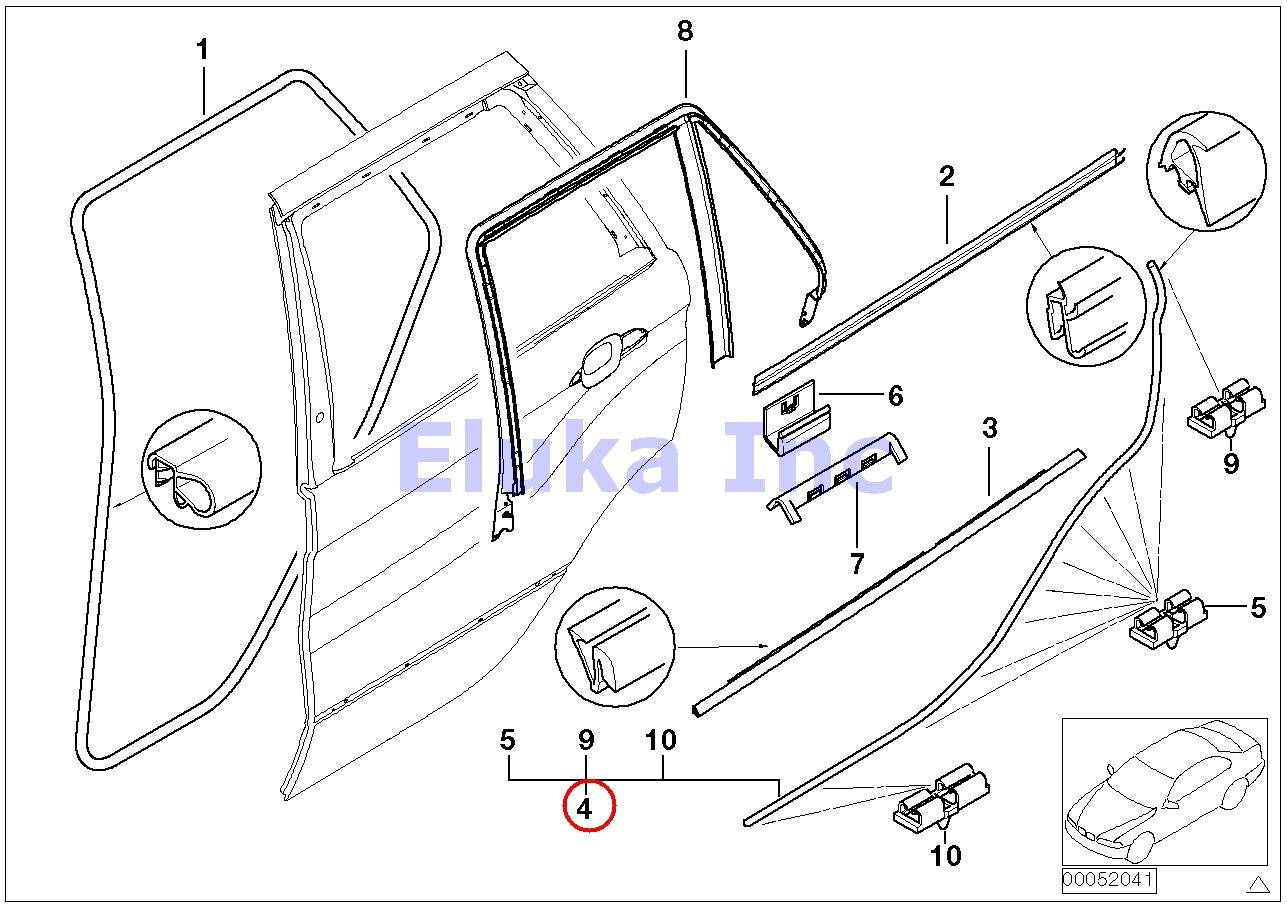 amazon bmw genuine rear right lower door trim weatherstrip seal Black 2001 BMW X5 3.0I amazon bmw genuine rear right lower door trim weatherstrip seal with clips x5 3 0i x5 4 4i x5 4 6is x5 4 8is automotive