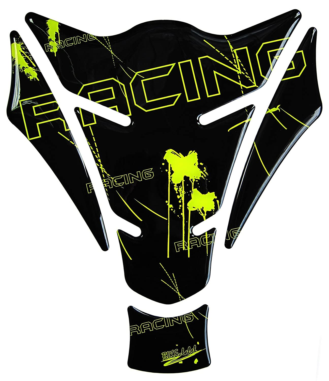 Tankpad 3D - 501274 Racing Neon Gelb universell fü r Motorrad Tanks Bike Label 501274-VA