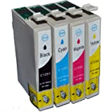 Compatible Epson Stylus SX235W Ink Cartridges 1X Black 1X Cyan 1X Magenta 1X Yellow (4-Pack)