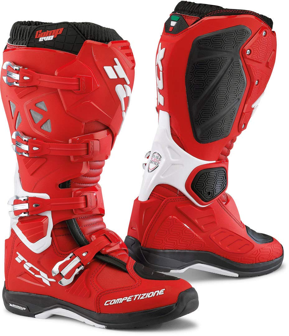 TCX Comp Evo 2 Michelin Motocross Stiefel 45 Rot Rot Rot Weiß 582a56