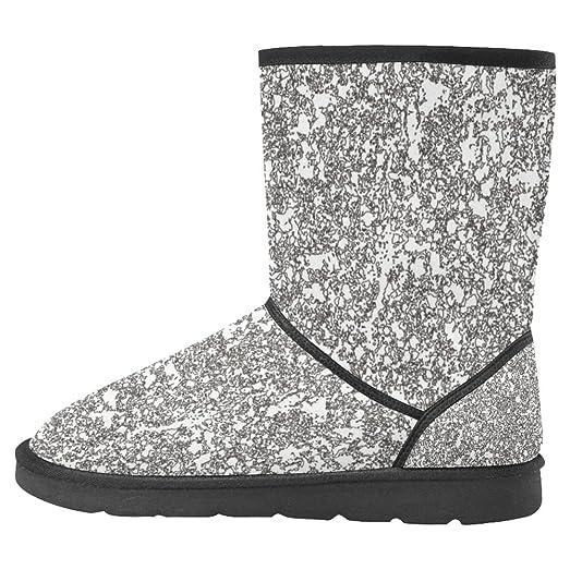 Women's Snow Boots Unique Designed Comfort Winter Boots Peach Blossom and Birds