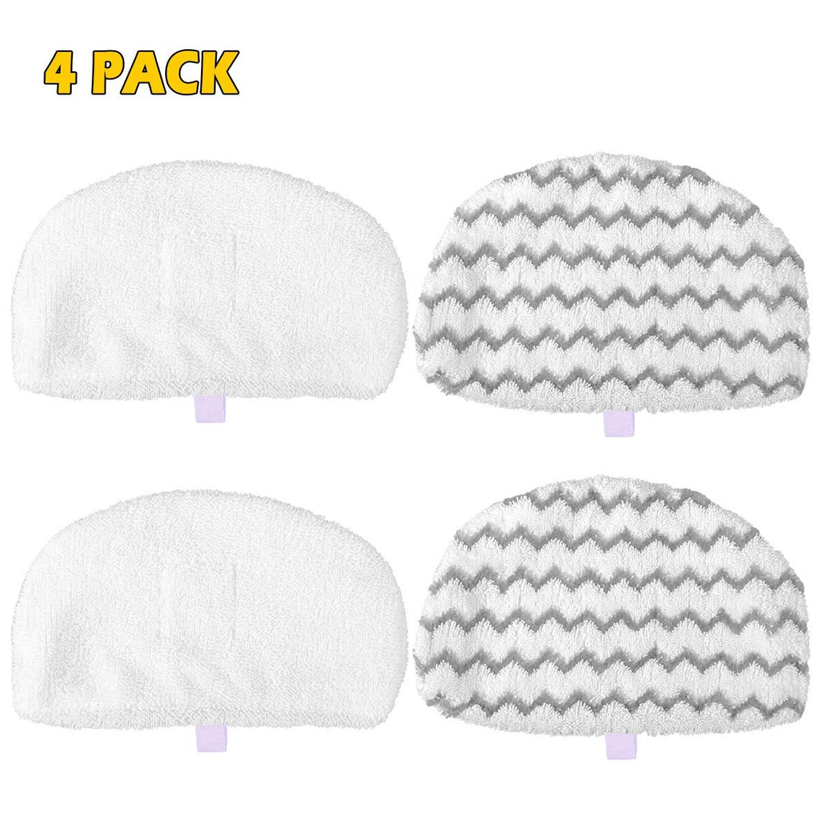 19404 1806 1940W MarlaMall 4 Pack Washable Steam Mop Pads Replacement for Bissell Powerfresh 1940 Series 1544A 1440 5938 19408 1940A 1940Q 1940-002 2075A