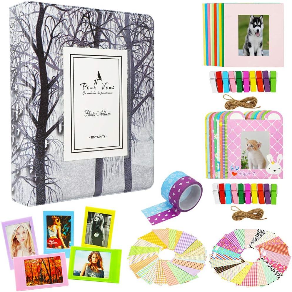 Borya Photo Album Accessories Bundles Set for Instax Mini Liplay/Instax Mini Link/Instax Mini 11/Mini 9/Mini 8/Mini 90/Mini 25/Polaroid Snap PIC-300/HP Sprocke/Kodak Mini 3-Inch Film.(Tree)