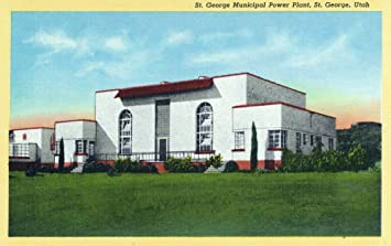 St George Utah Exterior View Of The Municipal Power Plant 9x12