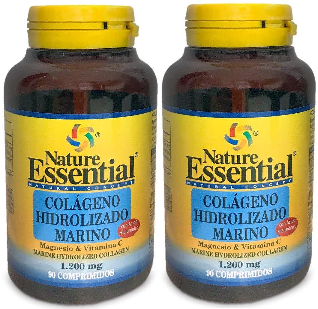 Colágeno marino hidrolizado 1200 mg 90 comprimidos con magnesio, ácido hialurónico y vitamina C: Amazon.es: Salud y cuidado personal