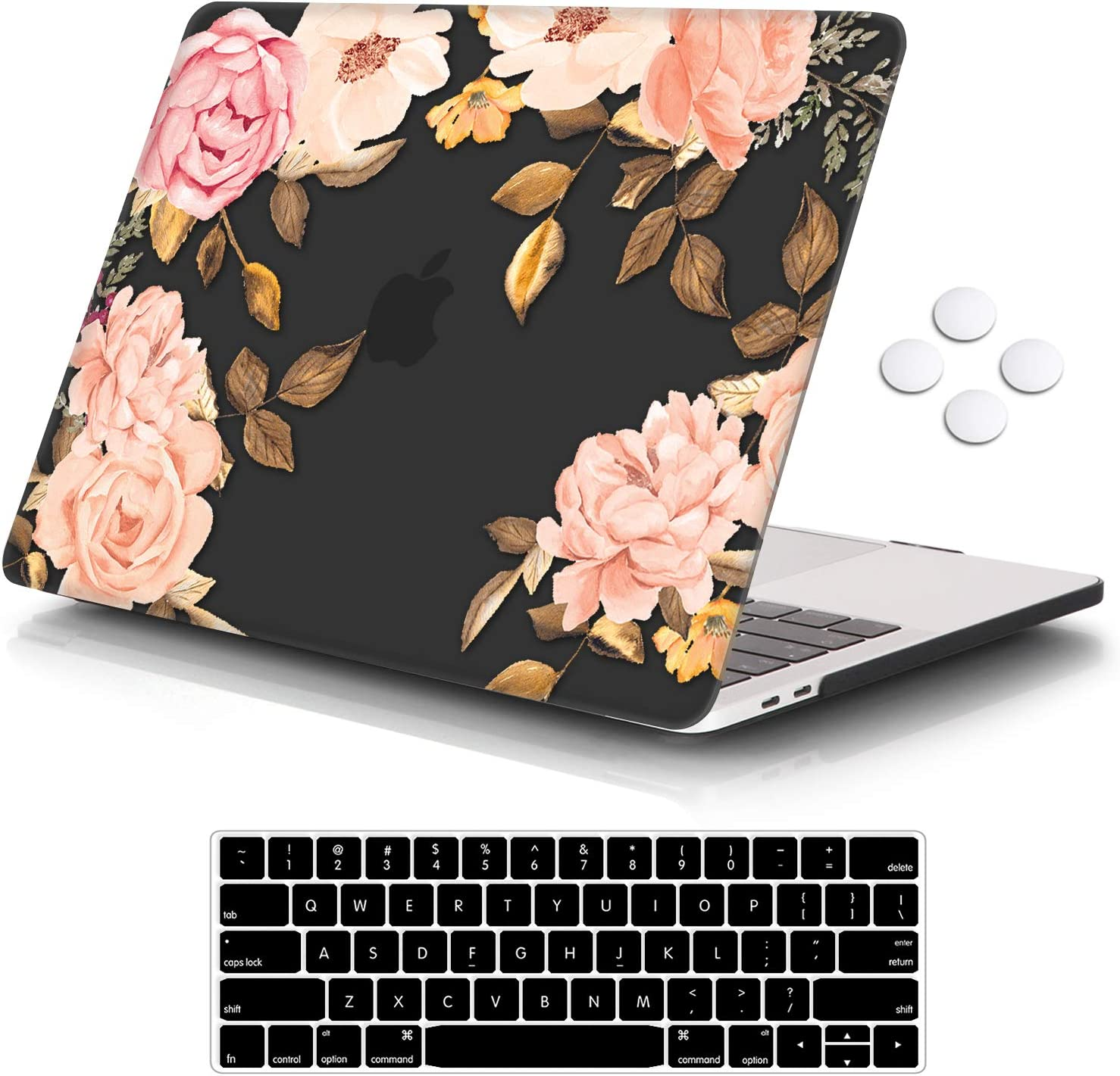 iCasso MacBook Pro 13 inch Case 2016-2020 Release A2338M1/A2159/A1989/A1706/A1708, Plastic Hard Shell Case with 5 Rows Keyboard Cover Compatible Newest MacBook Pro 13
