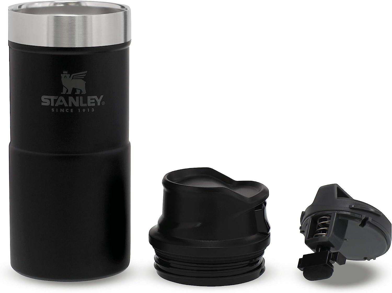 Tumbler Mug de Voyage /étanche Mug de Voyage en Acier Inoxydable pour Les Boissons Chaudes et Froides sans BPA Stanley Classic Trigger Action Travel Mug 0.35L // 12OZ Matte Black