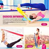 RENRANRING Resistance Bands Set,Exercise Bands with Door Anchor,Workout Bands of 3 Different Strengths,Latex Free Elastic Stretch Bands for Physical Therapy,Yoga,Pilates,Stretching,Home Workout