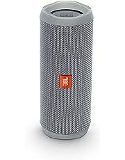 JBL Flip 4 Bluetooth Box in Grau (Wasserdichter, tragbarer Lautsprecher mit Freisprechfunktion & Alexa-Integration – Bis zu 12 Stunden Wireless Streaming mit nur einer Akku-Ladung))