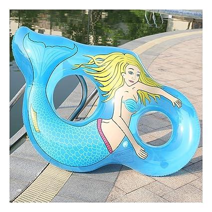 WYJHNL Flotador Sirena Anillo Natación Transparente ...