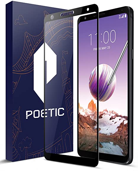 competitive price ccbf5 09ac3 LG Stylo 4 Screen Protector, Poetic [HD Clear][Case  Friendly][Anti-Fingerprint] Premium Tempered Glass Screen Protector for LG  Stylo 4 Black