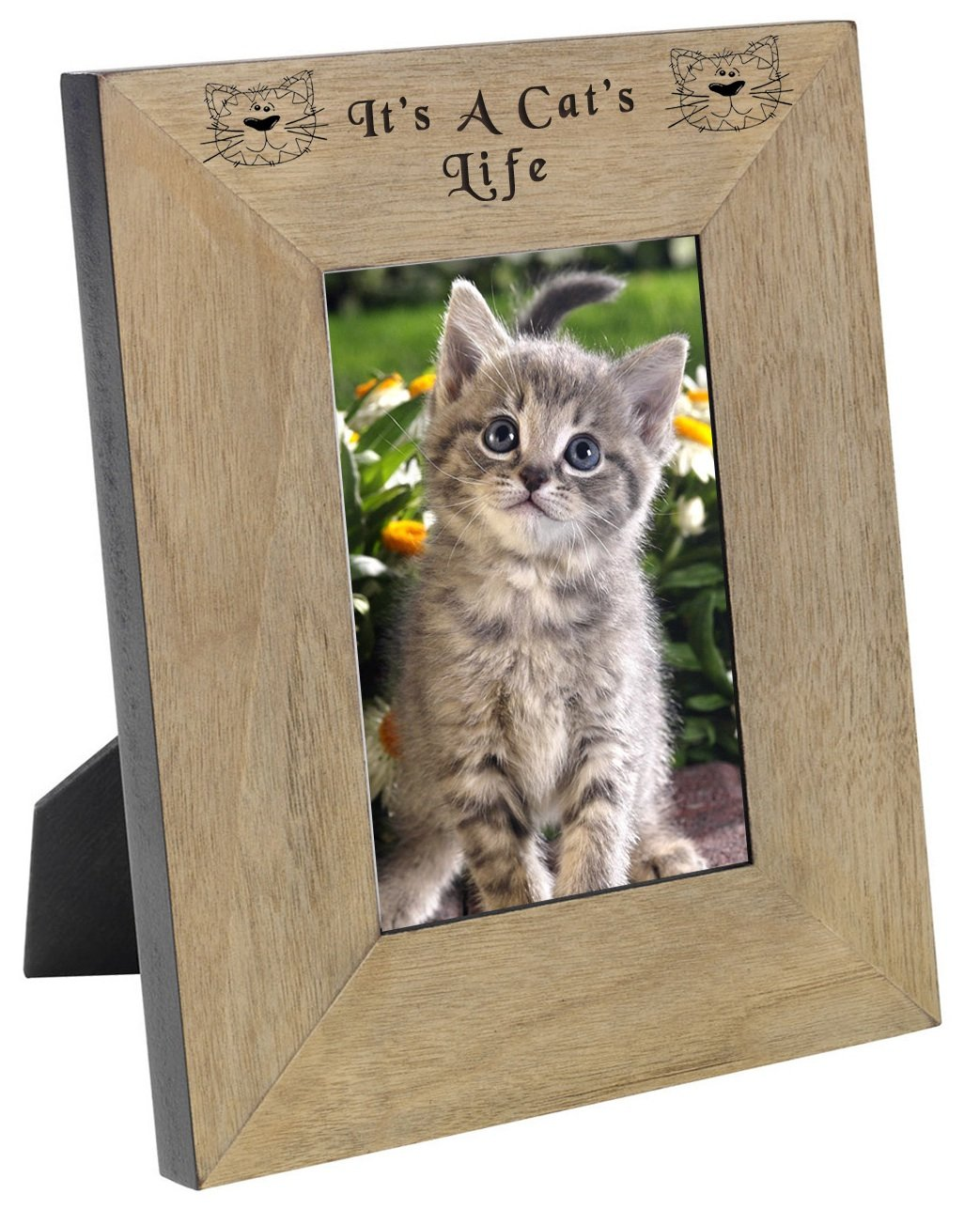 Chris Bag of Goodies Regalo de Regalo para Gatos y Amantes de los Gatos con Marco de Fotos de 6 x 4 y 6 x 4 cm, diseño con Texto en inglés ...