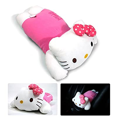 Hello Kitty Sanrio Armrest Cushions Car Center Consoles Cushion Pillow Pad Butterfly Pattern for Car Motors Auto Vehicle: Automotive