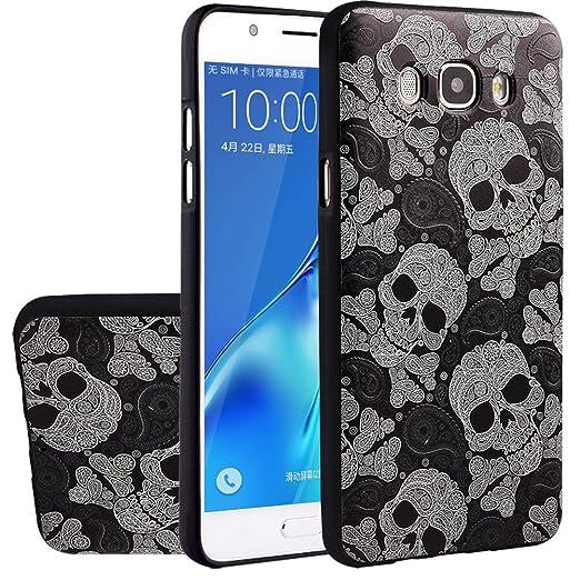 13 opinioni per MOONCASE Galaxy J7 2016 Case, [Skull] Creative 3D morbida TPU Custodia per