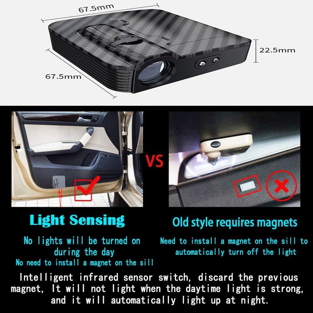 MIVISO Pas daimant am/élior/é Pas de porte-porte de voiture de projecteur aimant Bienvenue lumi/ères de bienvenue pour Ghost Shadow LED Acceptez le logo personnalis/é